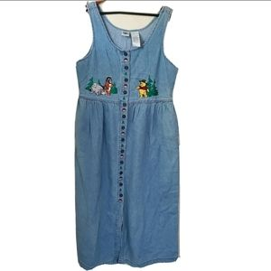 Vintags Disney Winnie The Pooh denim dress